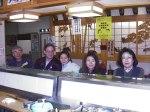Sushi Restaurant in Nikko with Suzuki family